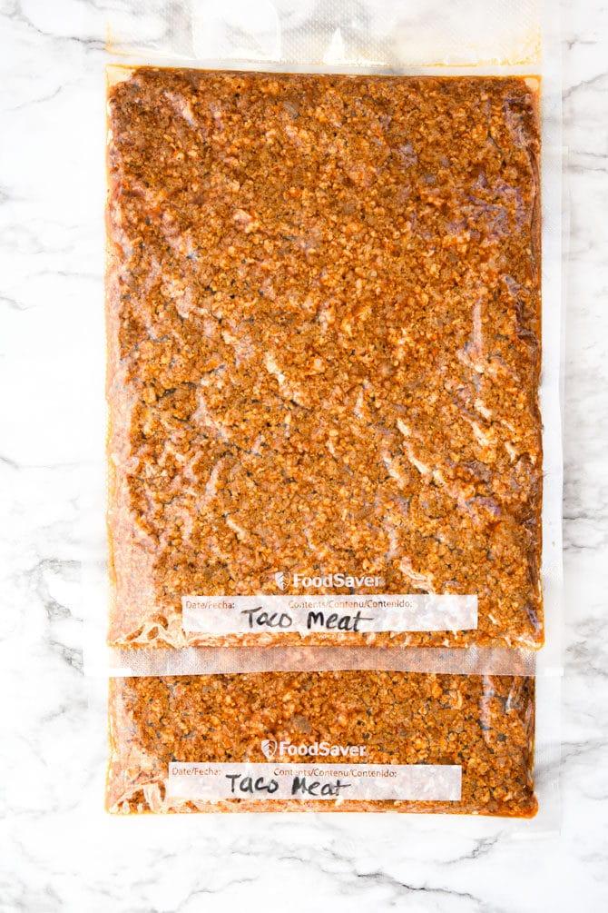 Batch Prep Taco Meat {Freezer Prep}