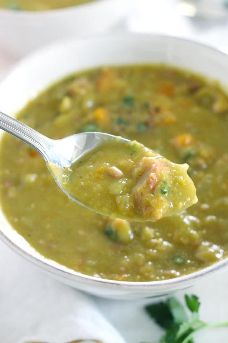 Instant Pot Split Pea Soup (made with a leftover ham bone)