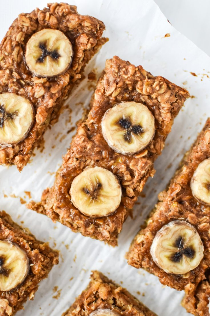 Peanut Butter Banana Oatmeal Breakfast Bars