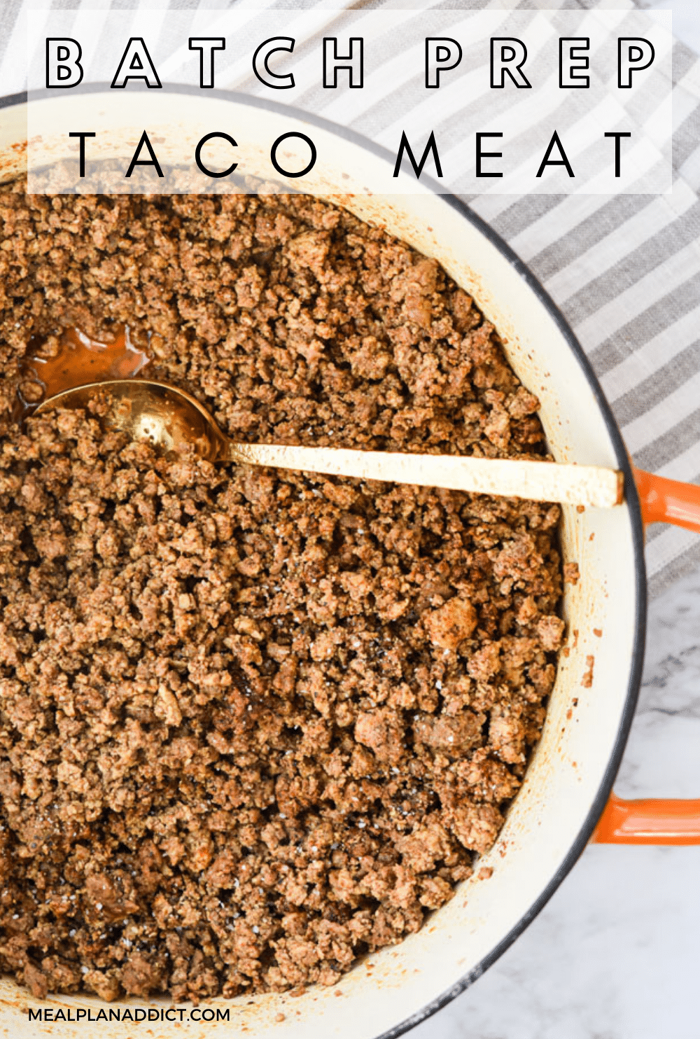 Taco meat pin for pinterest
