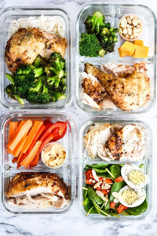 1 Rotisserie Chicken, 4 Easy Prep Lunches