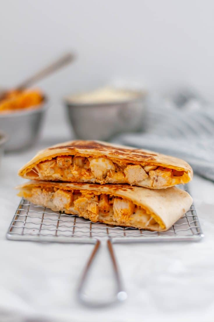 Buffalo Chicken Crunch Wraps