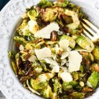 Garlic Parm Brussels Sprouts Air Fryer hero
