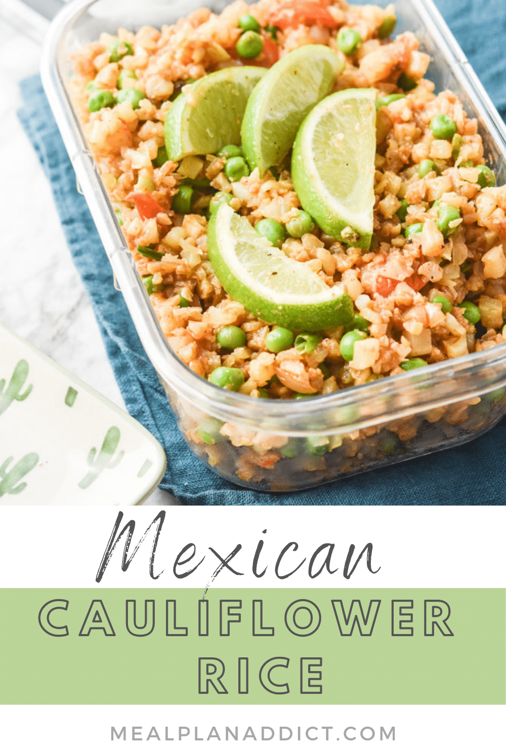Cauliflower Rice pin for Pinterest