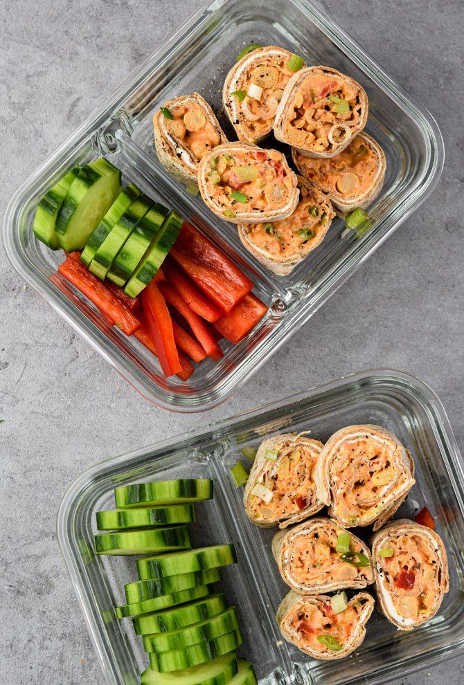 Buffalo Chickpea Pinwheel Meal Prep 2 boxes