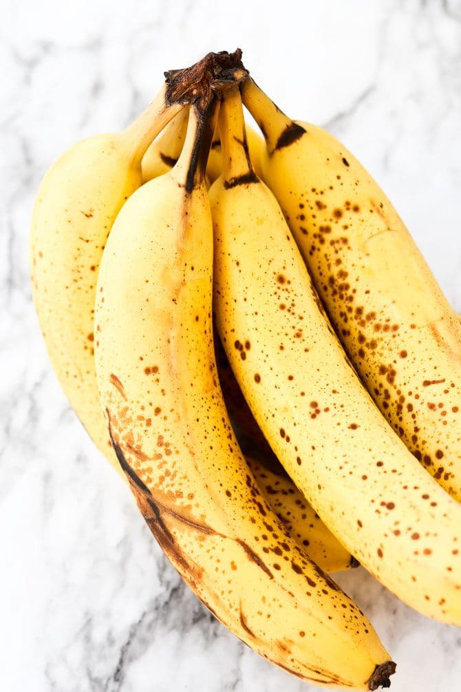 How to Freeze Bananas over ripe bananas