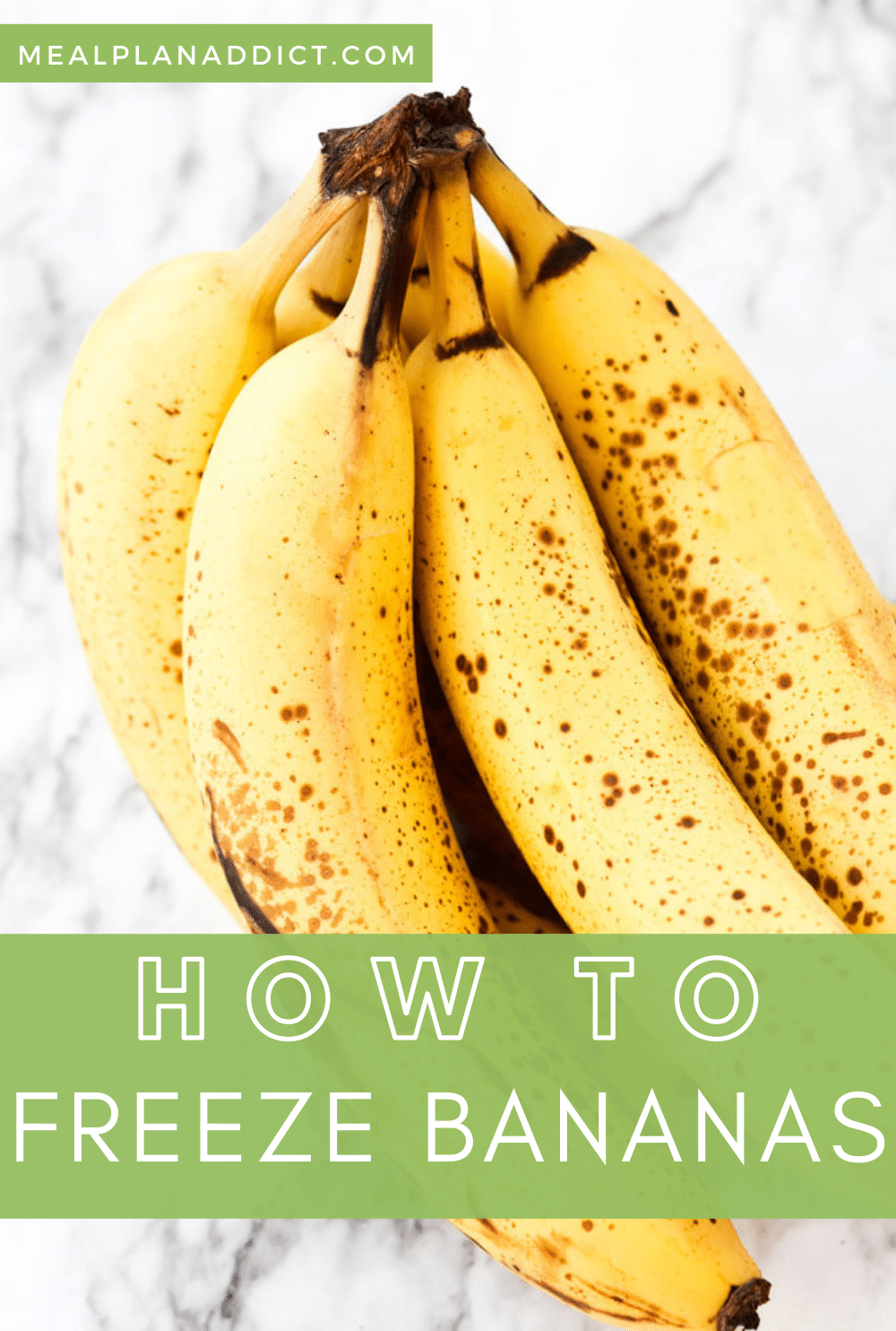 How to Freeze Bananas for Smoothies | Meal Plan Addict