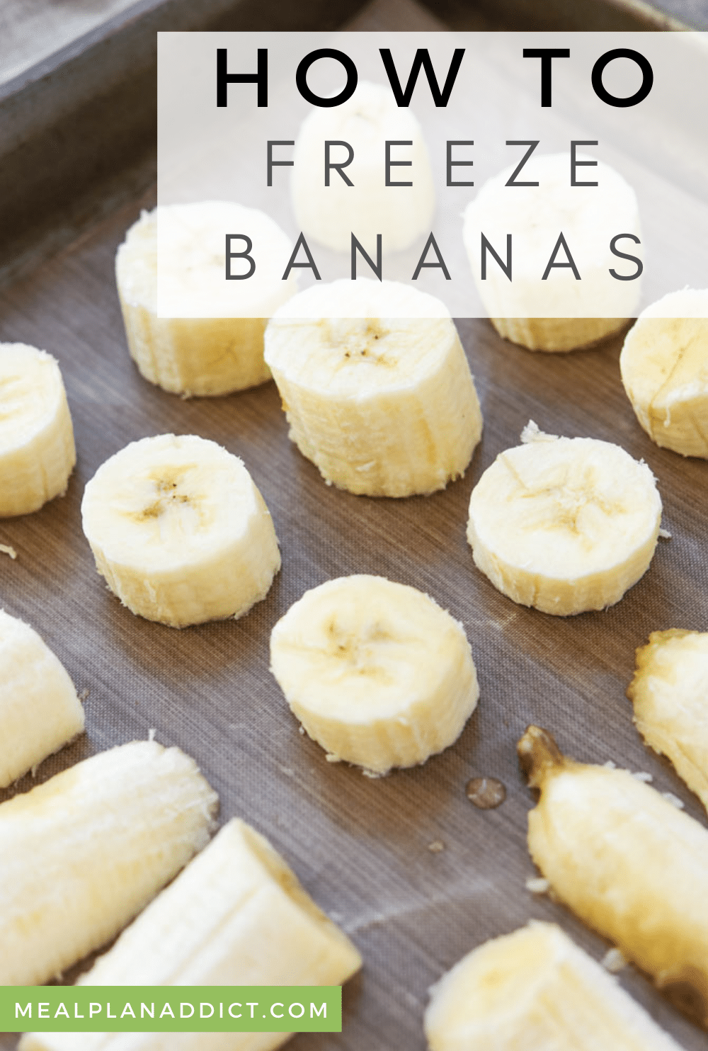 How to Perfectly Freeze Bananas | Meal Plan Addict