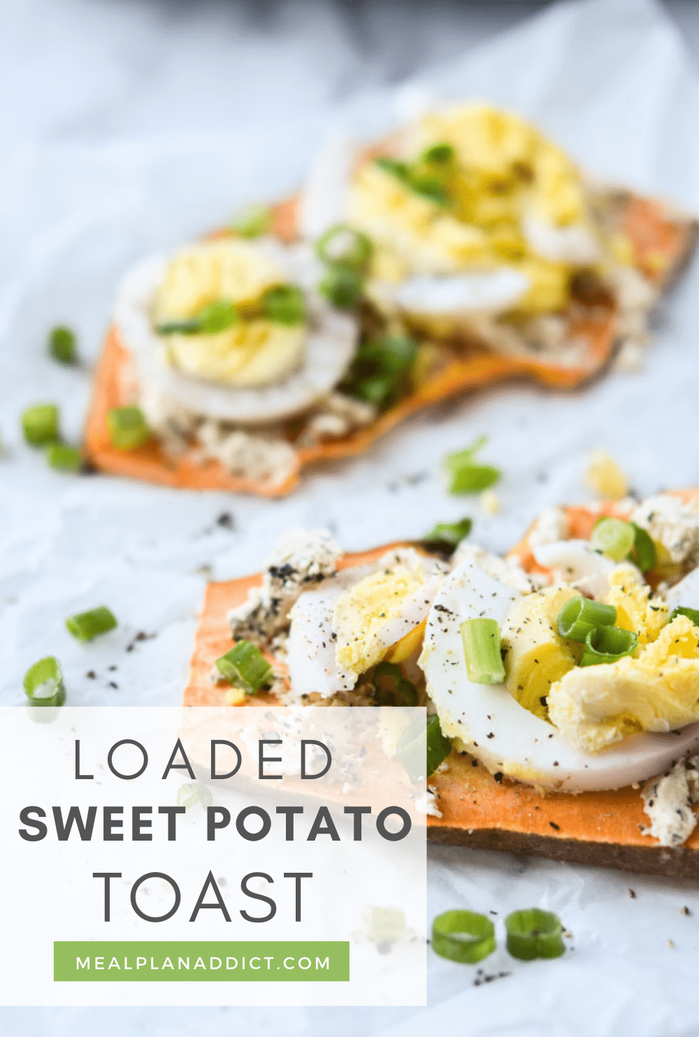 Sweet potato toast pin for pinterest