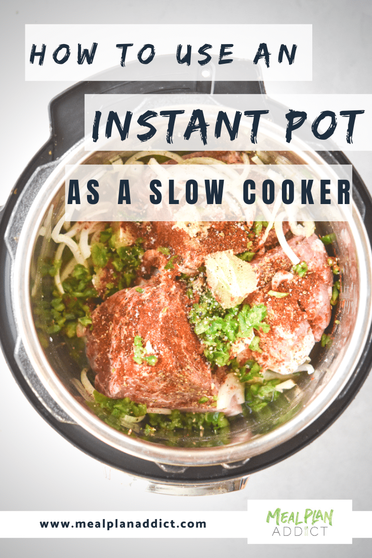 how to use an instant pot as a slow cooker