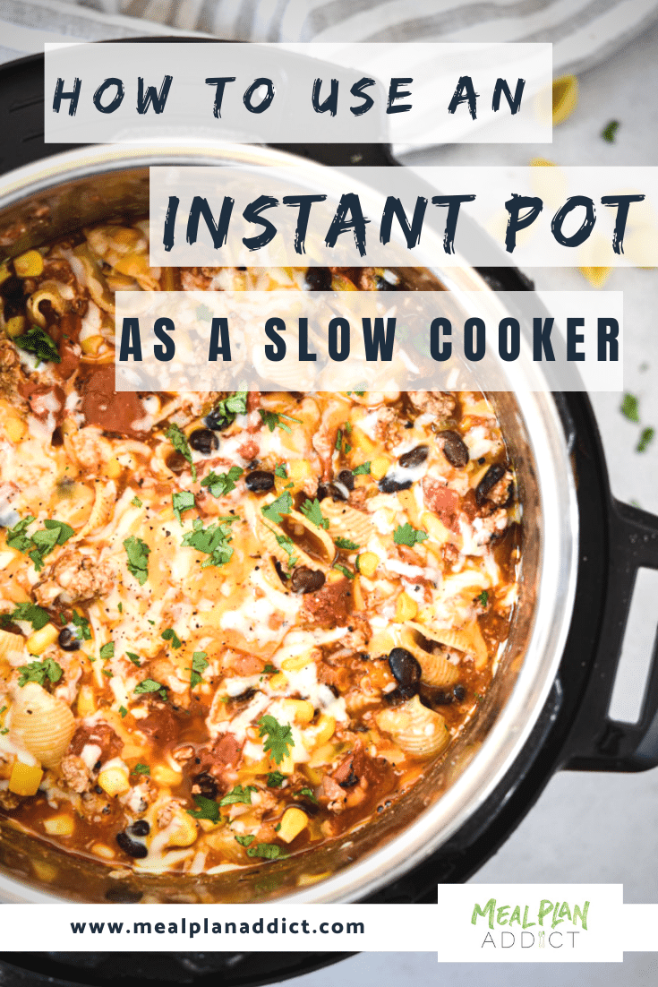 _how to use an instant pot as a slow cooker