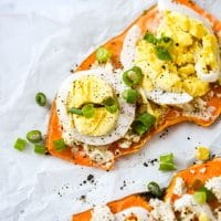 Loaded Sweet Potato Toast (using your toaster!)