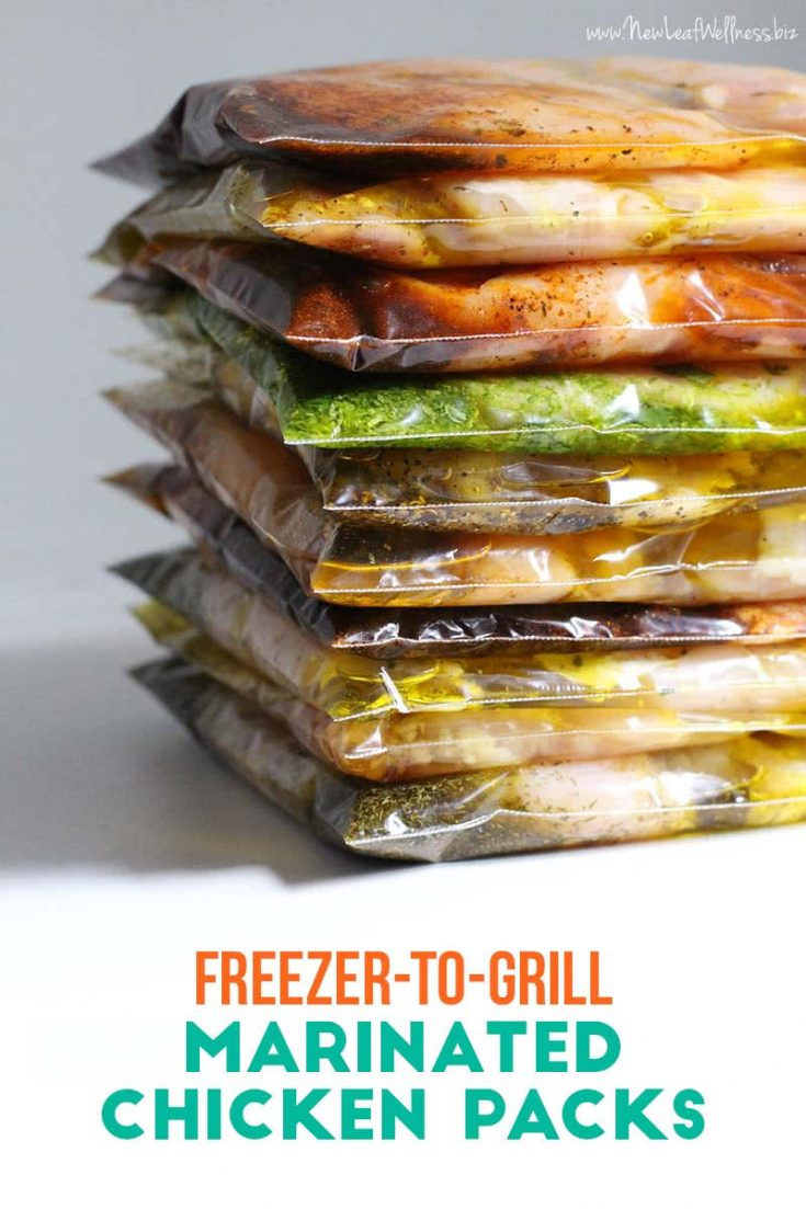 10 Freezer-to-Grill Chicken Packs in 20 Minutes