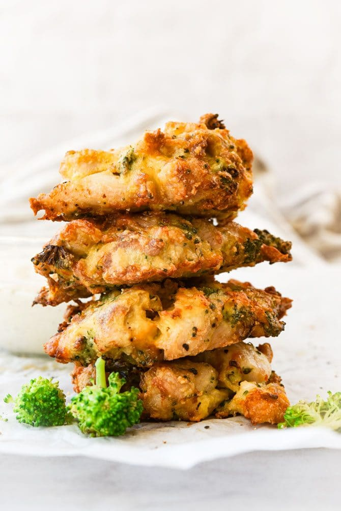 Broccoli Cheddar Chicken Fritters Air Fryer Or Stove Top - Meal Plan Addict-8701