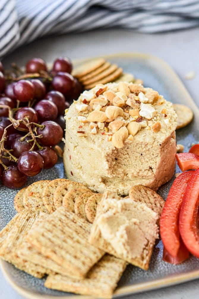 Easy Cashew Cheese Dip plate