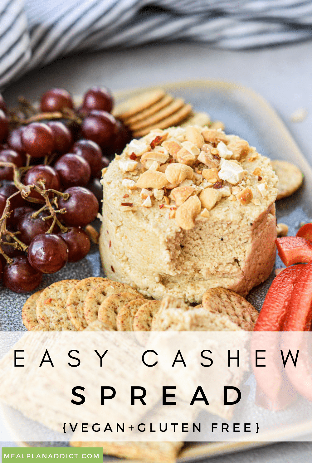 Cashew spread pin for Pinterest