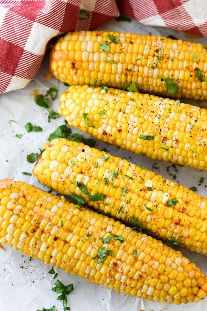 Instant Pot Chili Lime Corn on the Cob finished