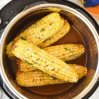 Instant Pot Chili Lime Corn on the Cob in instant pot