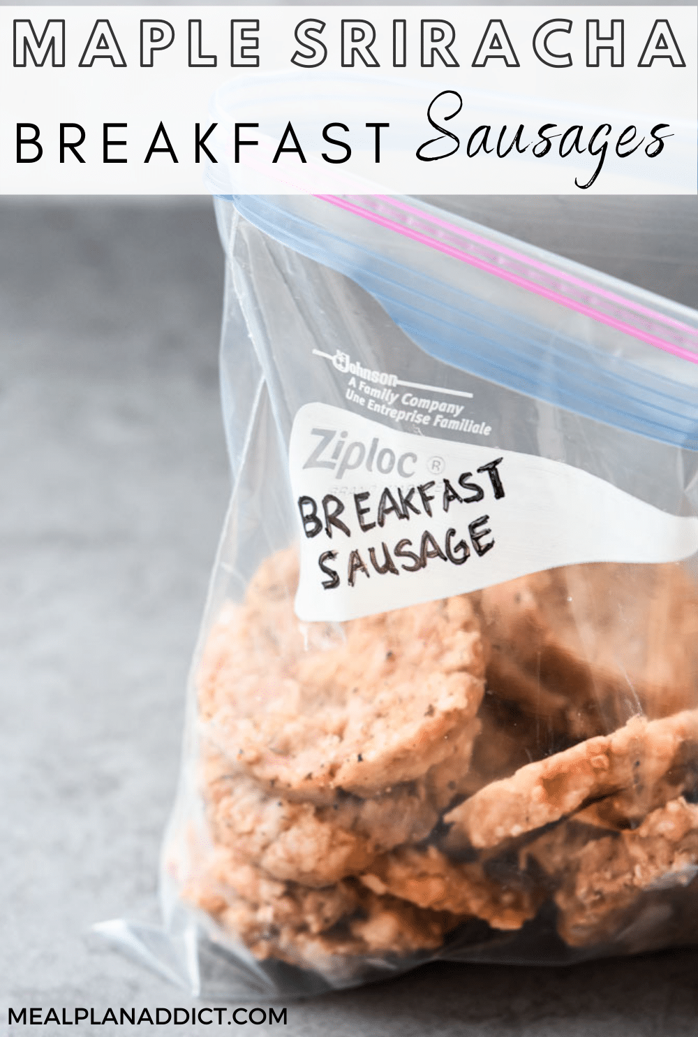 Breakfast Sausage pin for Pinterest