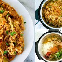 Pressure Cooker Cajun Chicken Sausage and Rice