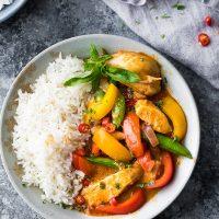 Spicy Instant Pot Thai Chicken Curry