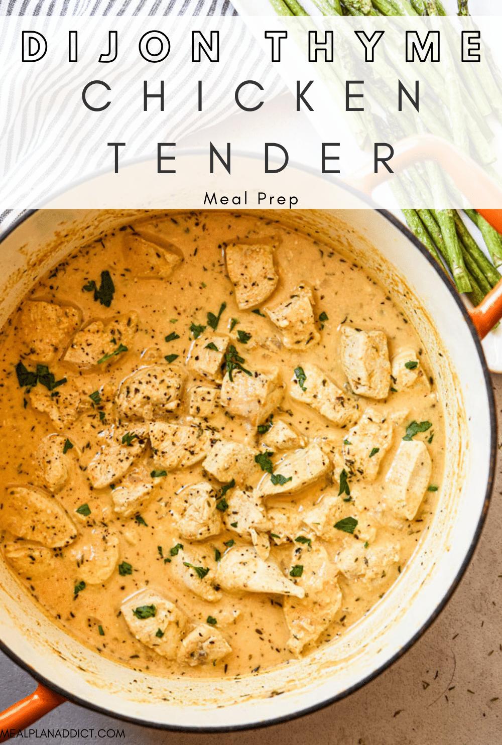 Chicken tenders pin for Pinterest