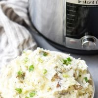 Diced potatoes in Instant pot basket