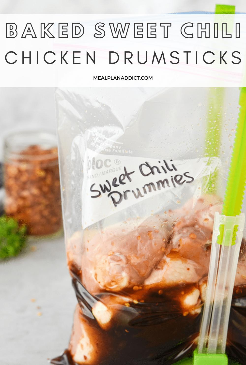 Chicken Drumsticks pin for Pinterest