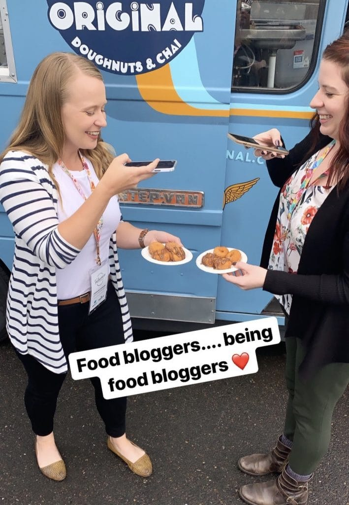 Food bloggers being food bloggers