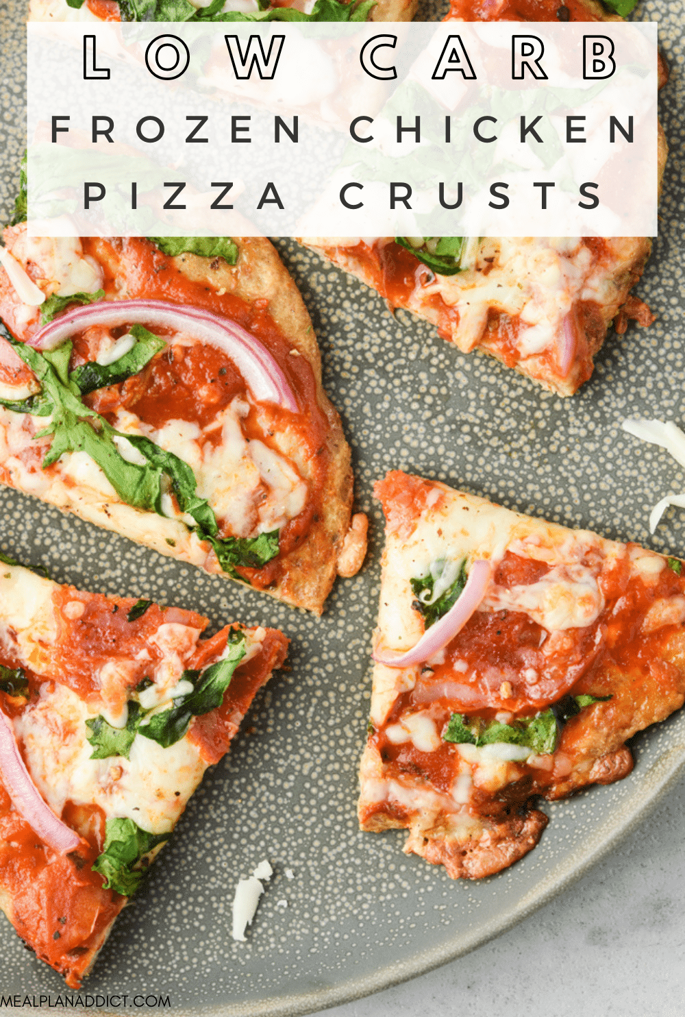 Low carb pizza crust pin for Pinterest