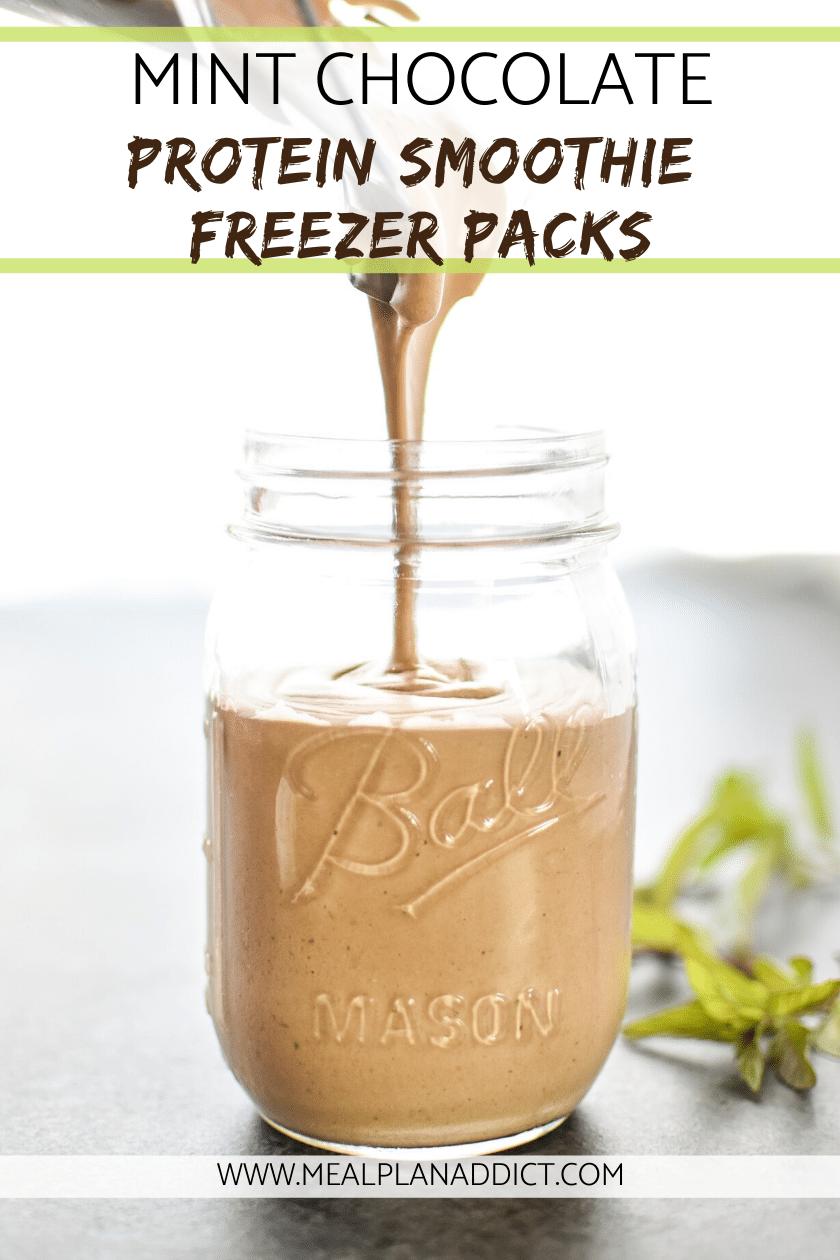 Mint Chocolate Protein Smoothie Freezer Packs