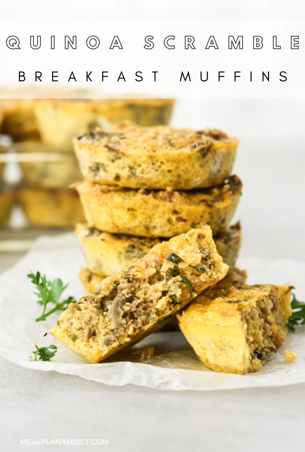 Breakfast muffin pin for Pinterest