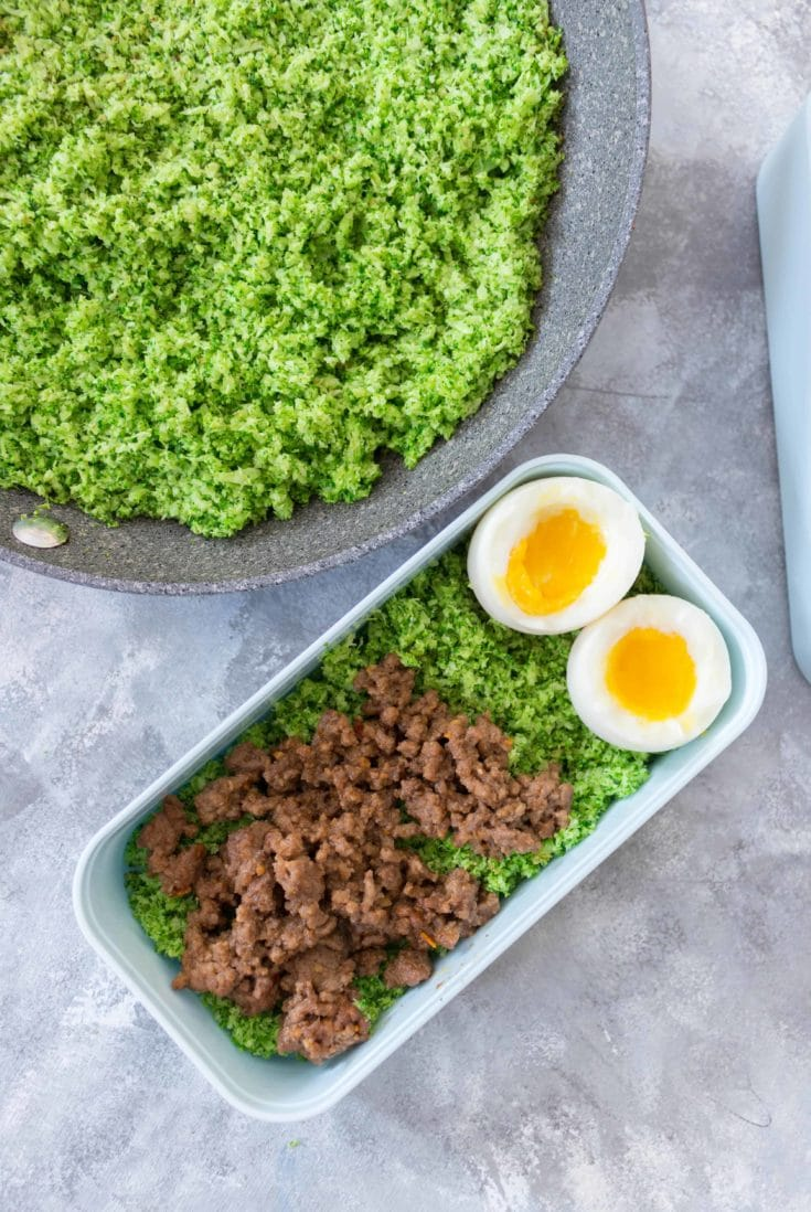 Spicy Peanut Beef with Broccoli Rice Meal Prep