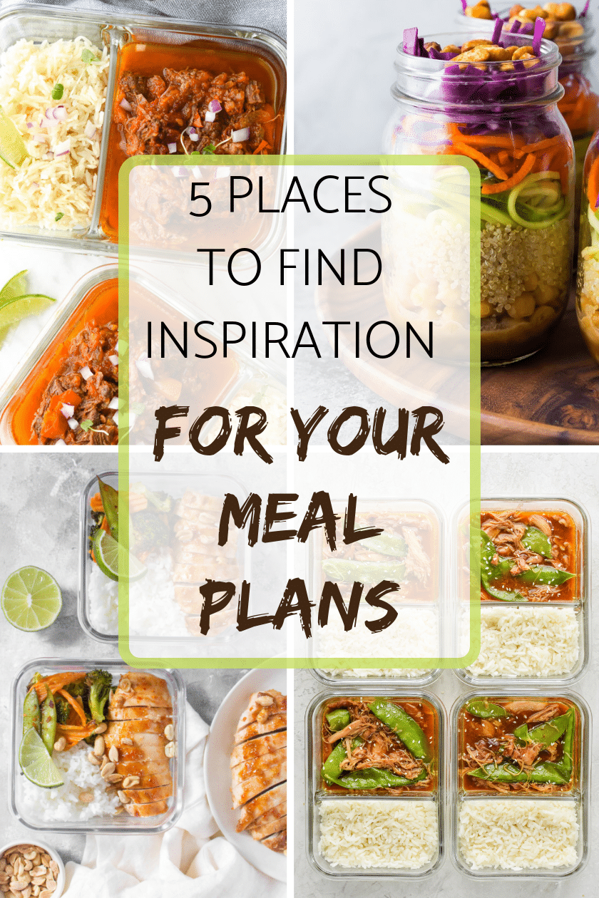5 Places to find Inspiration for your weekly meal plans