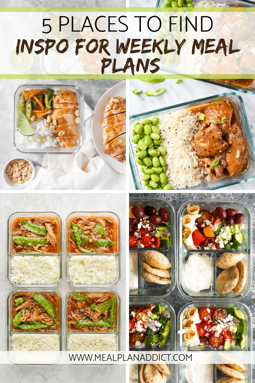 5 Places to find Inspiration for weekly meal plans