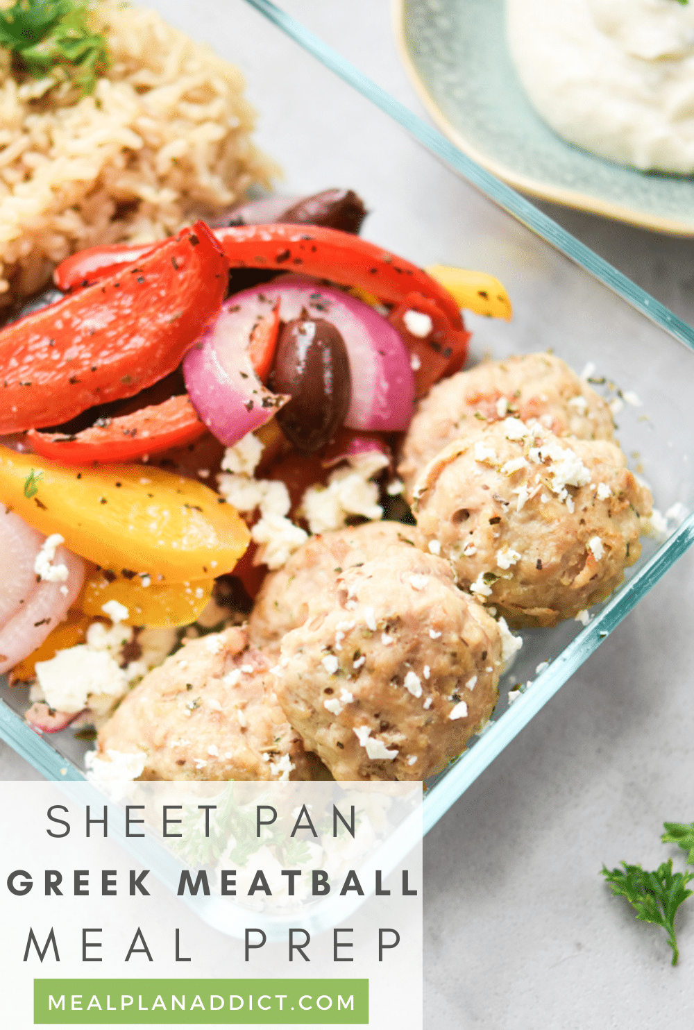 Greek meatballs pin for Pinterest