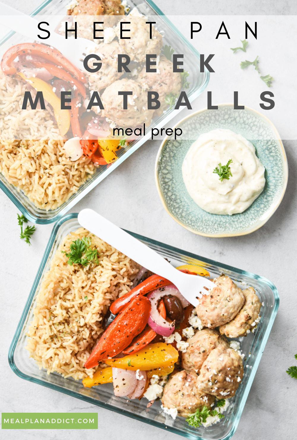 Greek meatball pin for Pinterest