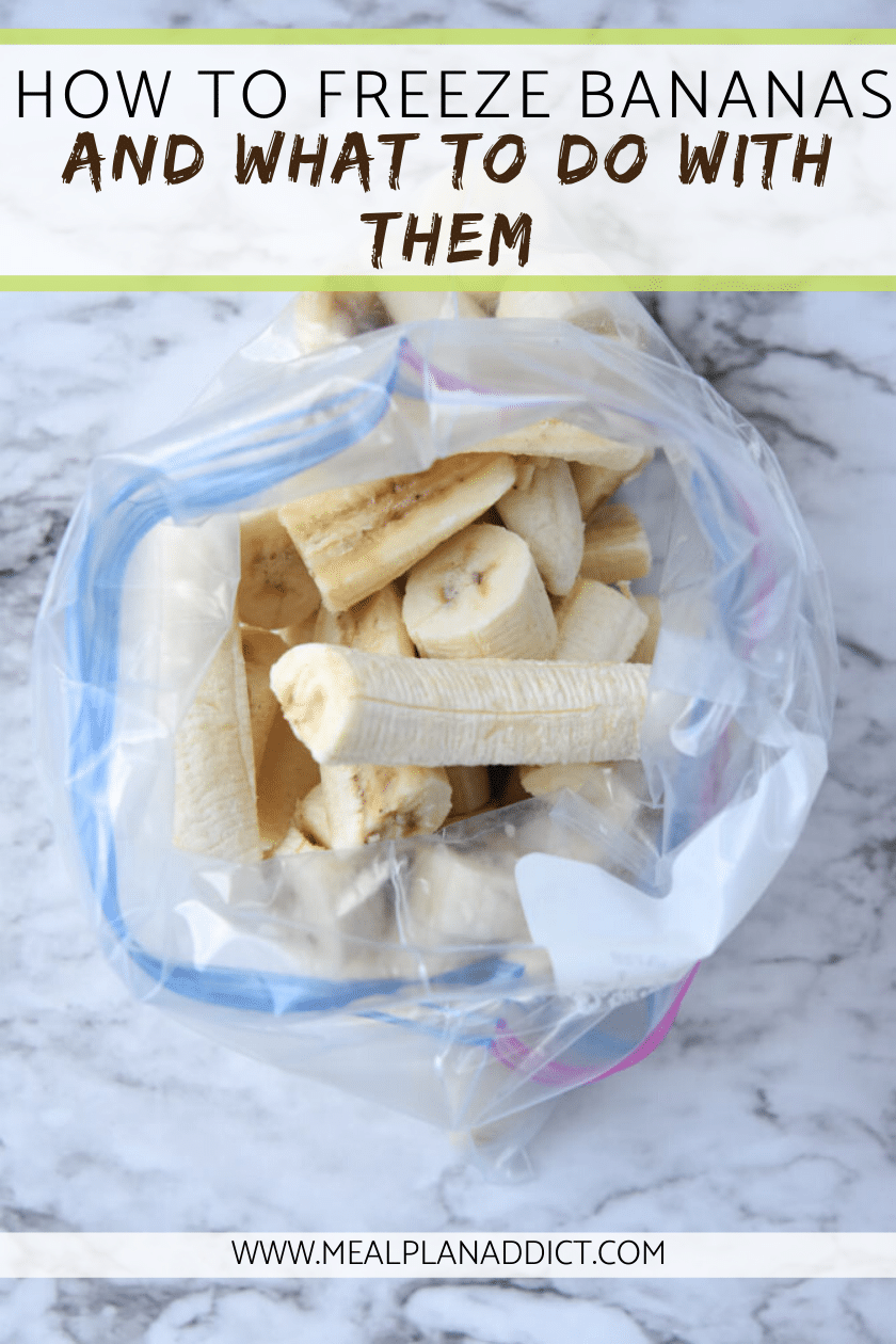 How to Freeze Bananas & what to do with them