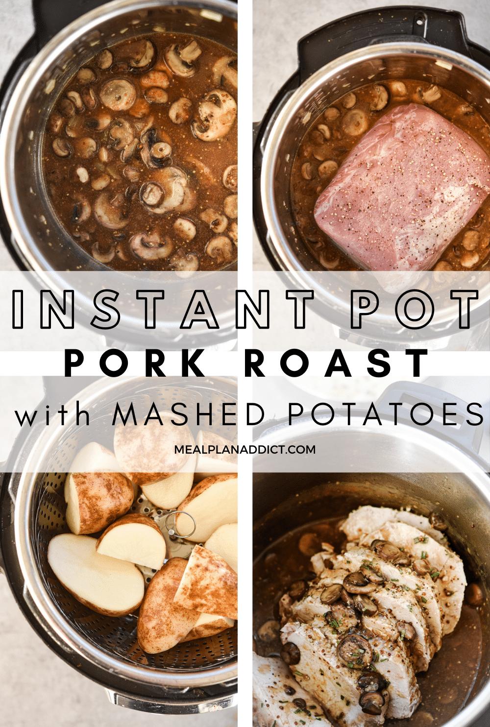 Pork roast pin for Pinterest