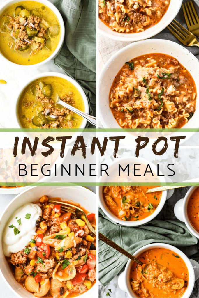 Instant Pot Beginner meals