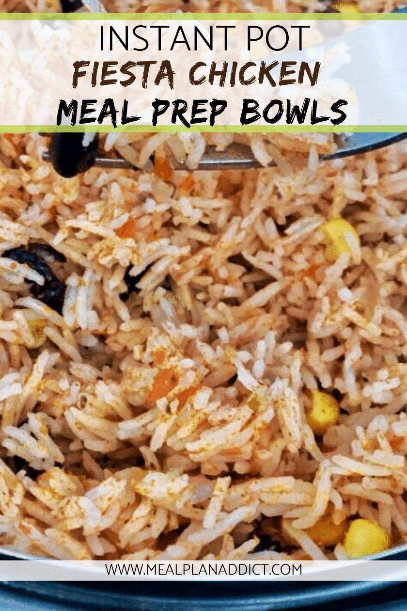 Instant Pot Fiesta Chicken Meal Prep Bowls