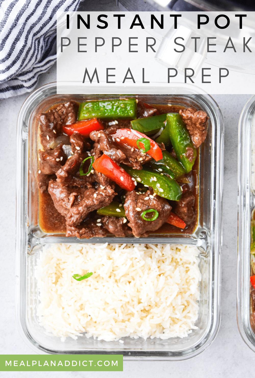 Meal Prep Instant Pot Pepper Steak Stir Fry Recipe | Meal Plan Addict