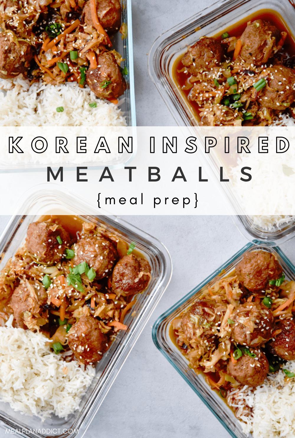 Korean meatballs pin for Pinterest