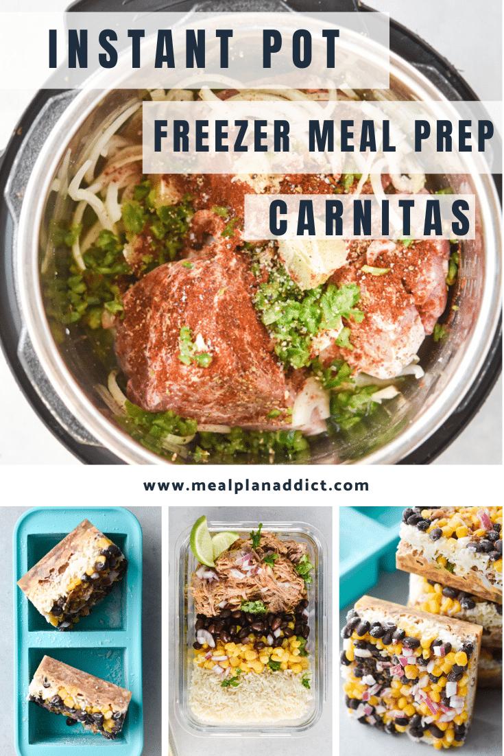 Instant Pot Freezer Meal Prep Carnitas