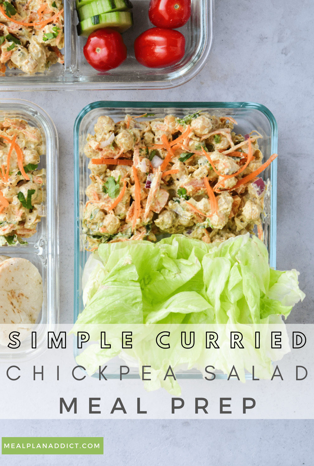 Curried chickpea salad pin for Pinterest