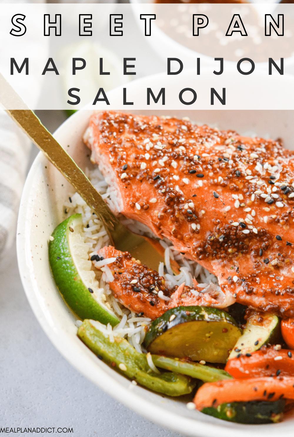 Maple dijon salmon pin for Pinterest