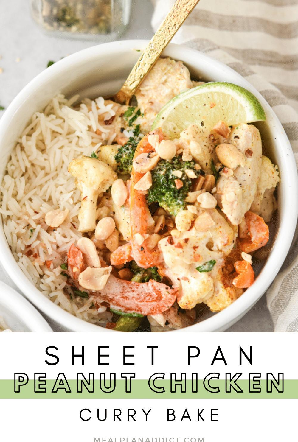 Sheet pan chicken pin for Pinterst