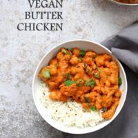 Instant Pot Vegan Butter Chicken with Soy Curls & Chickpeas. Oil-free GF