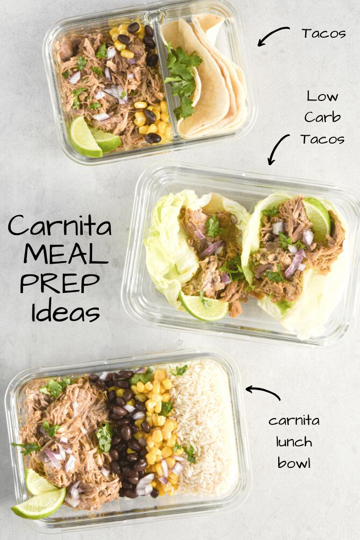 carnita meal prep ideas