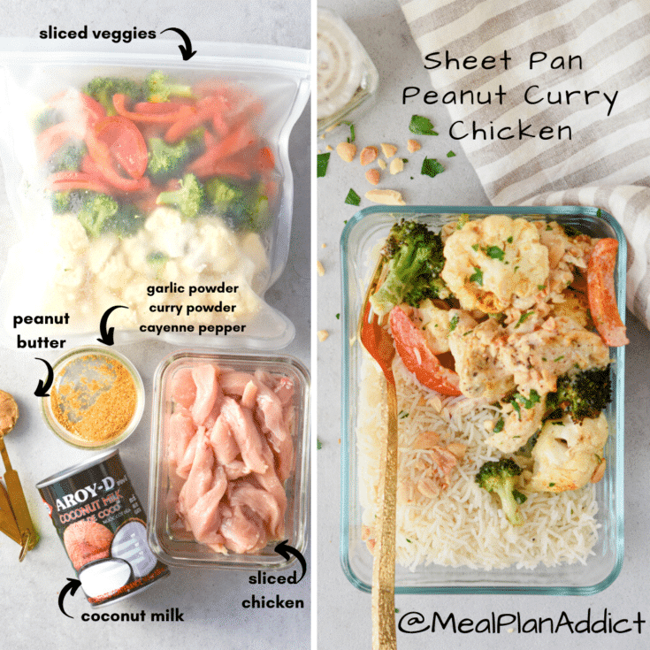 make it a meal prep graphic for peanut curry bake